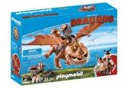 playmobil drager - fiskeben og fedknold - Playmobil