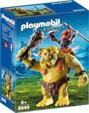 playmobil knights 9343 - kæmpetrold med dværgekæmpe - Playmobil