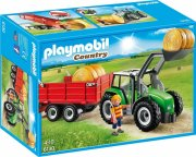playmobil - stor traktor med trailer  - Playmobil
