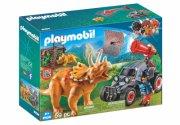 playmobil dinosaur legetøj - offroader med dino og bur - Playmobil