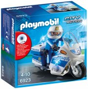 playmobil city action 6923 - politimotorcykel med led lys - Playmobil