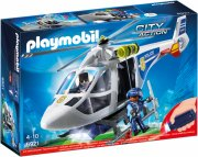 playmobil city action - politihelikopter med led søgelys - 6921 - Playmobil