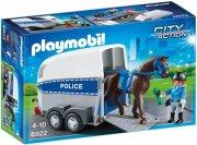 playmobil city action 6922 - politihest og trailer - Playmobil