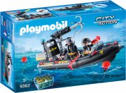 playmobil city action 9362 - swat-båd - Playmobil