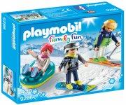 playmobil family fun 9286 - vinter sports trio - Playmobil