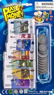 legepenge / legetøjspenge - euro - Rolleleg
