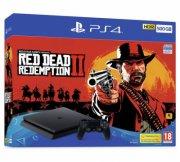 playstation 4 konsol - 500gb inkl. red dead redemption 2 spil - Konsoller Og Tilbehør