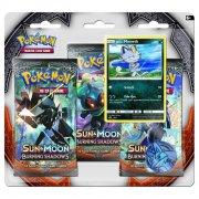 pokemon kort 3 pack blister - sun & moon 3 burning shadows - Brætspil
