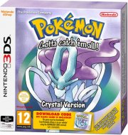 pokemon crystal (code in a box) - nintendo 3ds