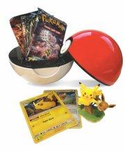 pokemon: poké ball box med pikachu & eevee samt 5 booster pakker - Brætspil