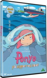 ponyo - på klippen ved havet / ponyo - by the cliff by the sea - DVD