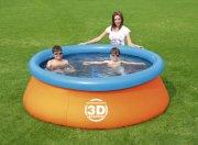 udendørs badebassin med 3d print - 213 cm - Bade Og Strandlegetøj