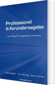 professionel it-forundersøgelse - bog