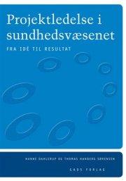 projektledelse i sundhedsvæsenet - bog