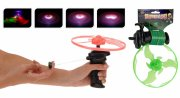 super ufo / propelskyder med lys - grøn/lyserød - Udendørs Leg