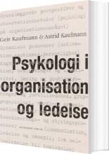 psykologi i organisation og ledelse - bog