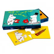 mumitroldene baby puslespil - hvem gør hvad? - 2 brikker, fra 2 år - 10 plader - Brætspil