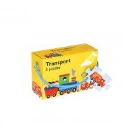 puslespil til børn - transport - 3 stk - Brætspil