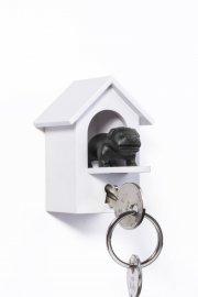 qualy nøgleholder / nøglehus - sort hund - Til Boligen