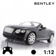 rc bentley continental gt cabriolet sort - fjernstyret bil - Fjernstyret Legetøj