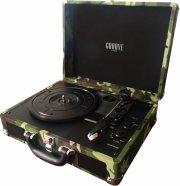 rejsegrammofon - bluetooth pladespiller med indbygget højtaler - camouflage - Tv Og Lyd