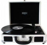 rejsegrammofon - bluetooth pladespiller med indbygget højtaler - creme - Tv Og Lyd