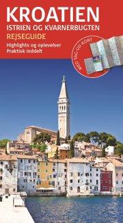 rejseguide med kort - kroatien - bog