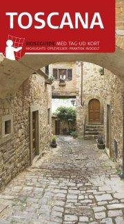rejseguide med kort - toscana - bog