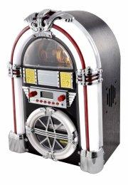 retro jukebox med bluetooth, cd afspiller og fm radio - mørke brun - Tv Og Lyd
