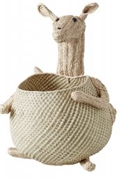 rice kurv til legetøj - vævet kænguru - Til Boligen