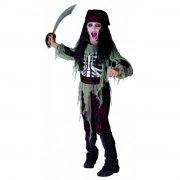spøgelse pirat kostume - rio - medium - 140 cm - Udklædning