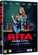 rita - sæson 1-3 + hjørdis mini-serie - DVD