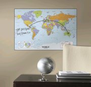 verdenskort til væg - tavle / whiteboard - roommates - Til Boligen