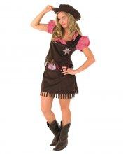 cowgirl kostume / udklædning til voksne - small - rubies adult - Udklædning Til Voksne