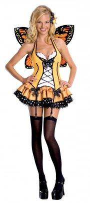 sommerfugle kostume til voksne - fantasy butterfly - small - Udklædning Til Voksne