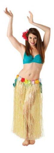 hawaii kostume til voksne - skørte med blomster - one-size - Udklædning Til Voksne