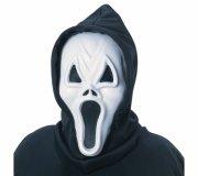scream maske med hætte til voksne - Udklædning Til Voksne