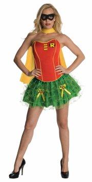 robin kostume til voksne - korset kjole - small - Udklædning Til Voksne