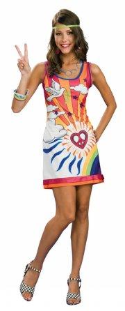 hippie kostume til voksne - small - Udklædning Til Voksne