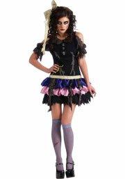 zombie kostume til voksne - kvinde - zombie kjole m. tilbehør - Udklædning Til Voksne