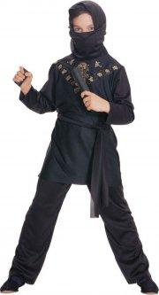 rubies ninja kostume / black ninja - small - Udklædning