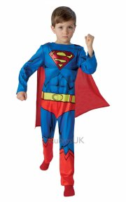 rubies - superman kostume - medium - 5-6 år - Udklædning