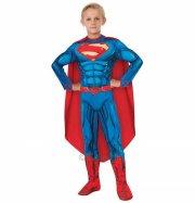 superman kostume / udklædning - 7-8 år- rubies - Udklædning