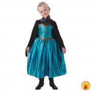 rubies - disney frost - elsa kronings kjole - small (104 cm) - Udklædning