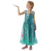 rubies elsa kostume / elsa kjole - small - 104 cm - 3-4 år - Udklædning
