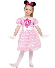 minnie mouse kostume til børn - pink - 5-6 år - Udklædning