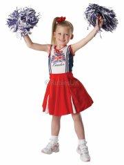 cheerleader kostume - medium - rubies - Udklædning