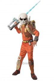 star wars kostume - ezra deluxe 5-6 år - rubies - Udklædning