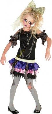 rubies zombie pige kostume - medium - 116cm - Udklædning