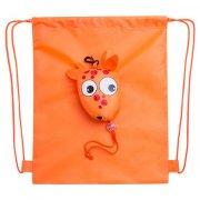 rygsæk med snore - orange - Skole